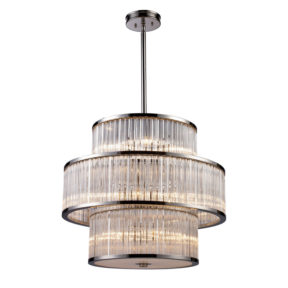 Elk Braxton 15 Light Chandlier In Polished Nickel Model: 10130/5+5+5