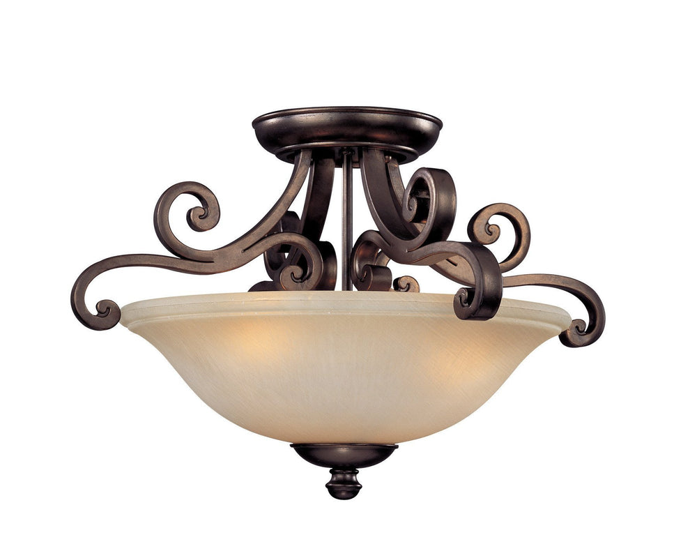 1085-207 Dolan Designs Brittany 3 Light Semi Flushmount Deep Bronze