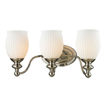 Elk 11642/3 Park Ridge 3 Light Vanity In Polished Nickel & Reeded Glass