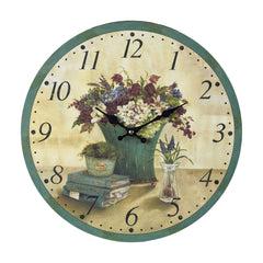 118-0338 Sterling Bouquet Clock