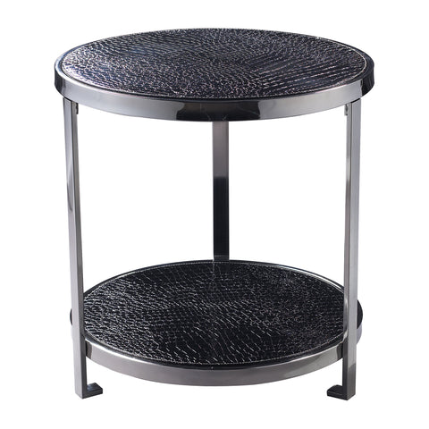 120-0087 Sterling Black Croc Coffee Table