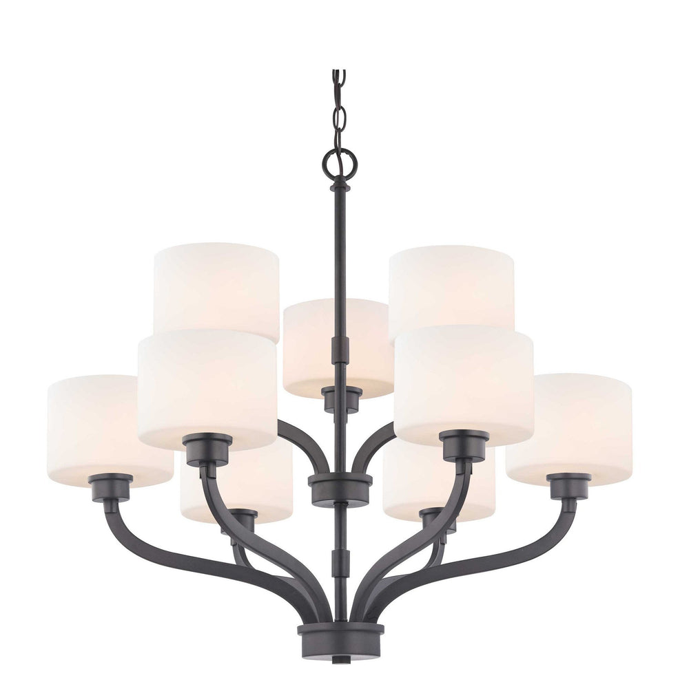 1262-46 Dolan Designs Kalina 9 Light 2 Tier Chandelier Warm Bronze