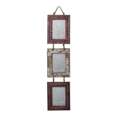 128-10264 Sterling Set Of Picture Frames With Natural Rope Hanger