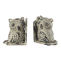 129-10535 Sterling Owl Book Ends
