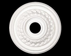 17 in. White Ceiling Medallion