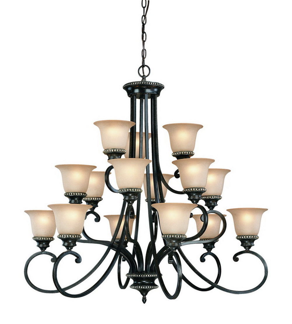 1753-148 Dolan Designs Hastings 15 Light 3 Tier Chandelier Phoenix