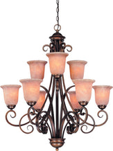 2092-133 Dolan Designs Medici 9 Light 2Tier Chandelier English Bronze