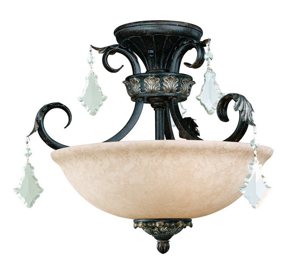 2105-148 Dolan Designs Florence 3 Light Semi Flush Phoenix