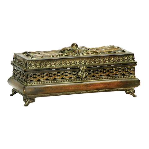 26-17568 Sterling Sterling Decorative Pierced Glove Box