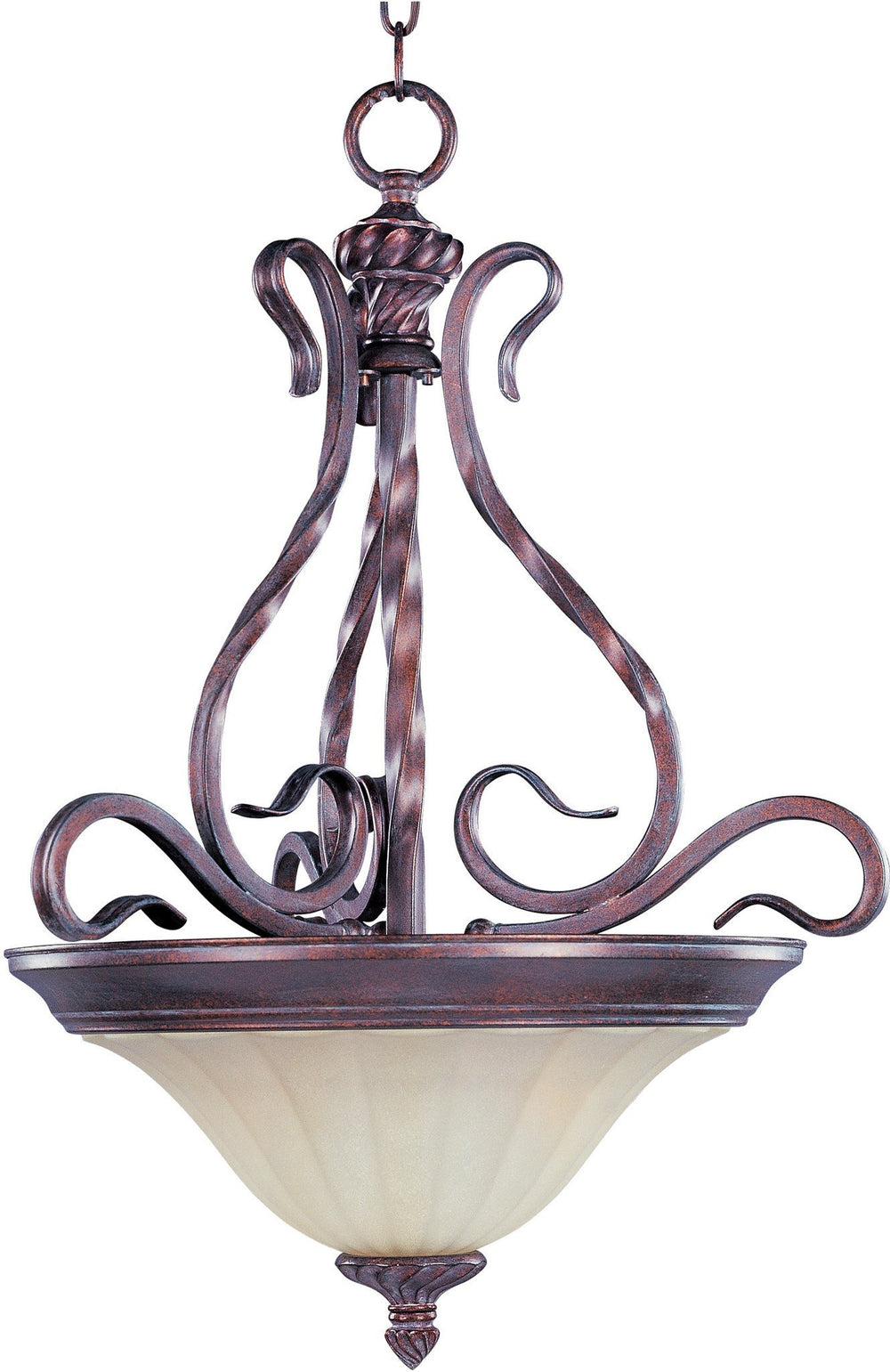 2772SVGB Maxim Via Roma 2-Light Invert Bowl Pendant