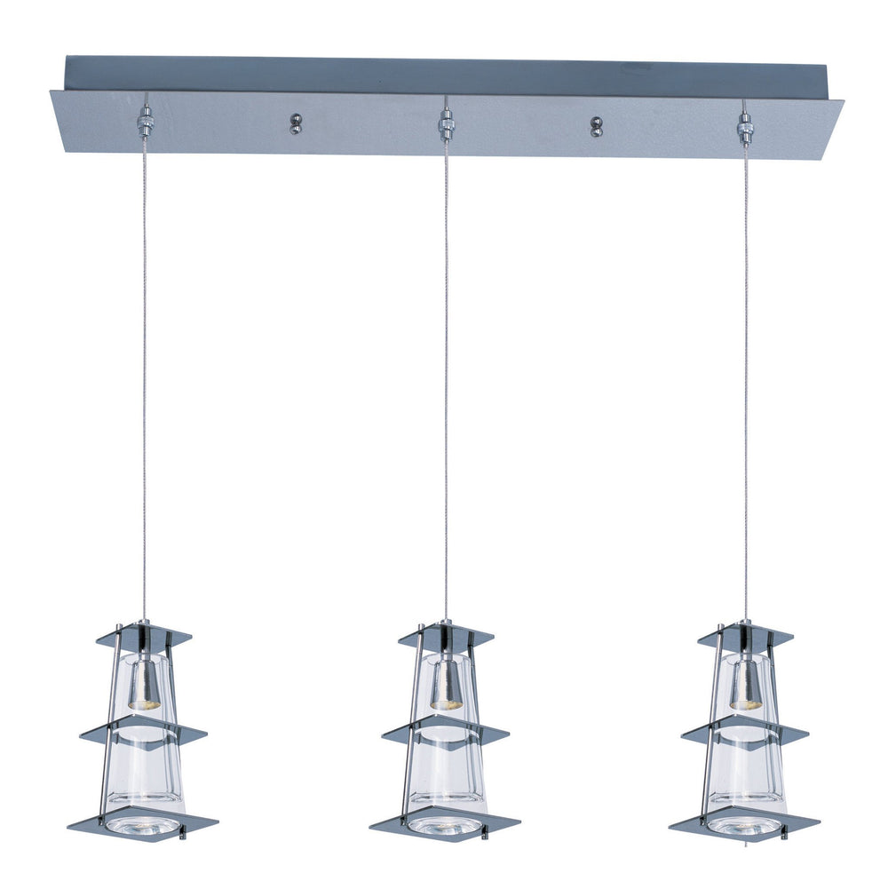 33013CLPC Maxim Flask 3-Light LED Chandelier