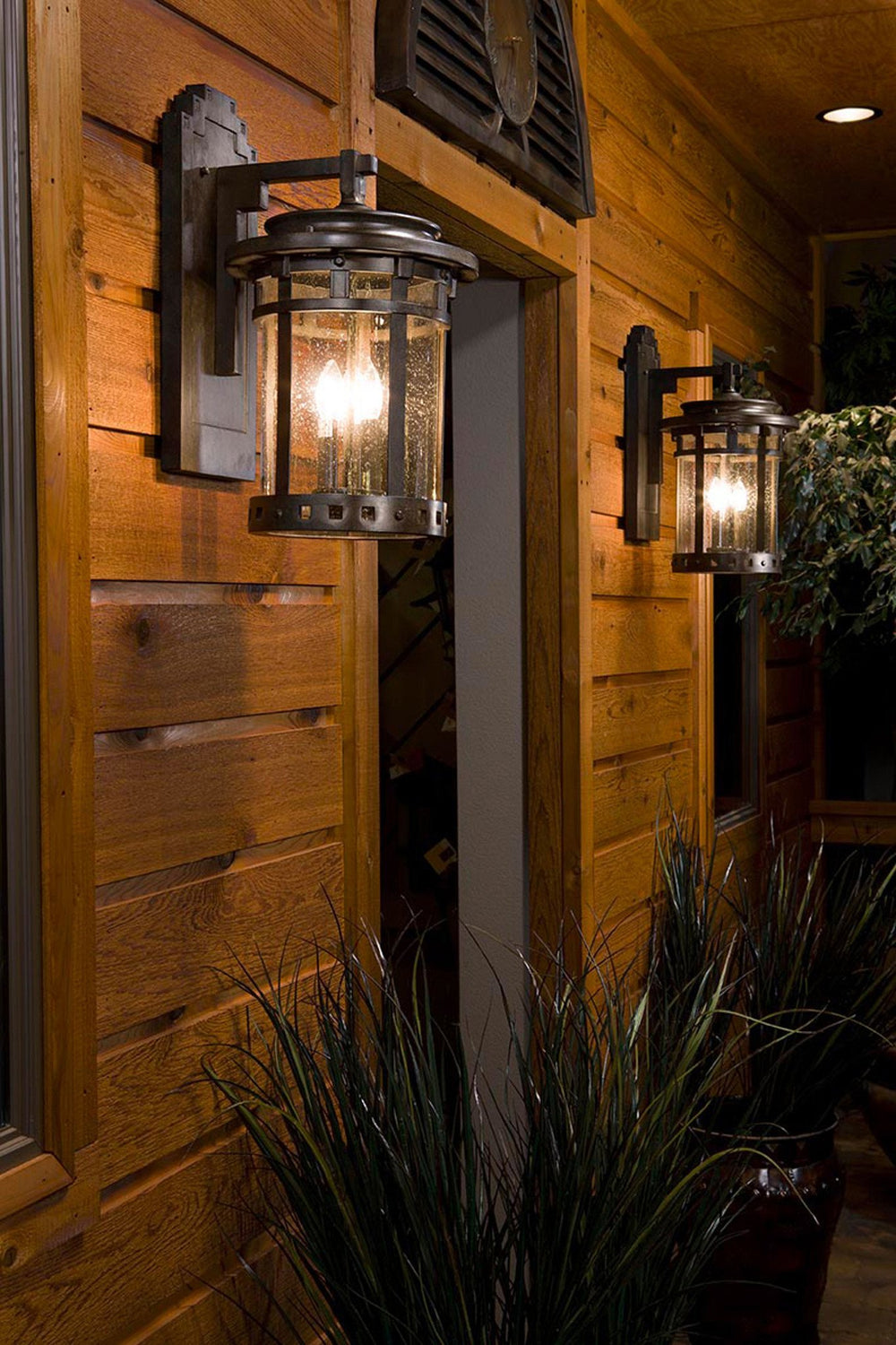 40031cdse Maxim Santa Barbara VX 3-Light Outdoor Deck Lantern