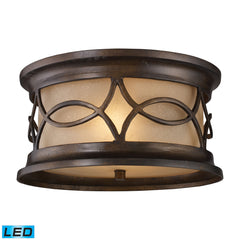 Elk 41999/2-LED Burlington Junction 2 Light Outdoor Led Flush Mount In Hazelnut Bronze