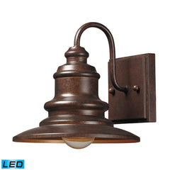 Elk 47010/1-LED Marina 1 Light Outdoor Led Sconce In Hazelnut Bronze