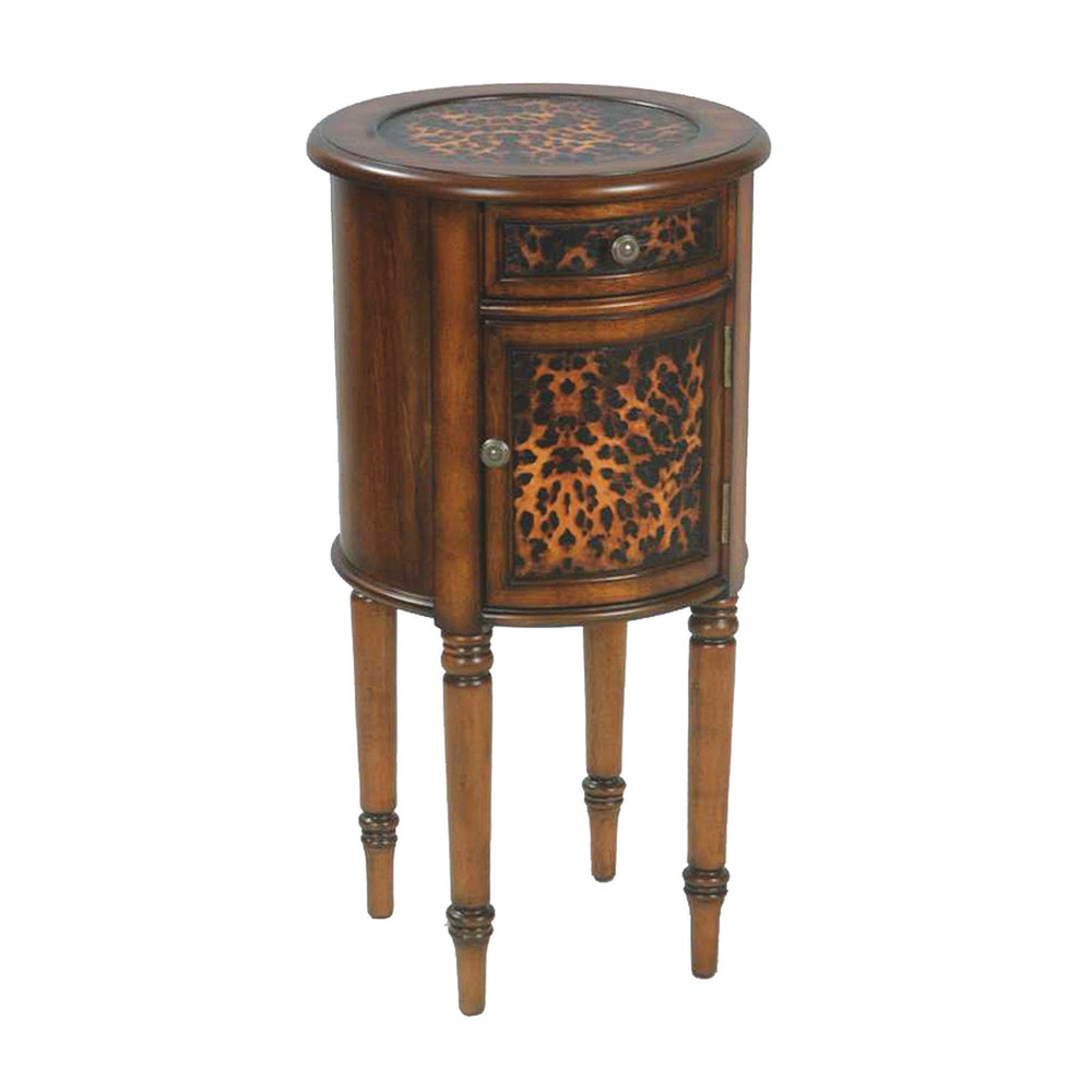 51-00613 Sterling Leopard Drum Table