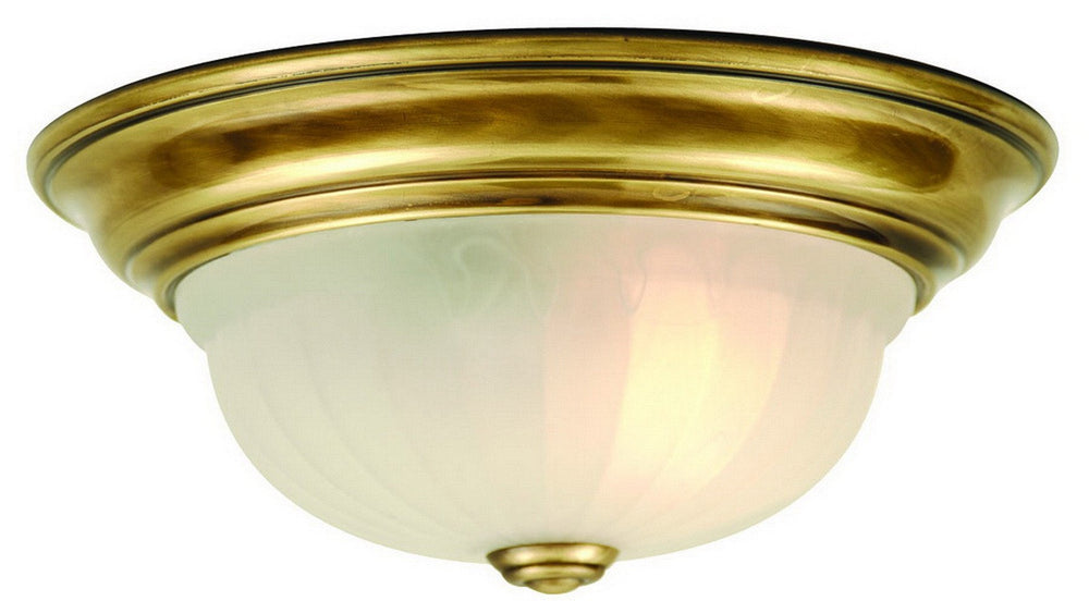 521-18 Dolan Designs Richland 1 Light Flushmount Old Brass