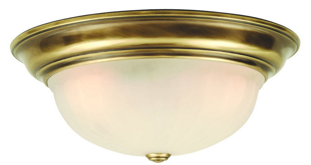 523-18 Dolan Designs Richland 3 Light Flushmount Old Brass