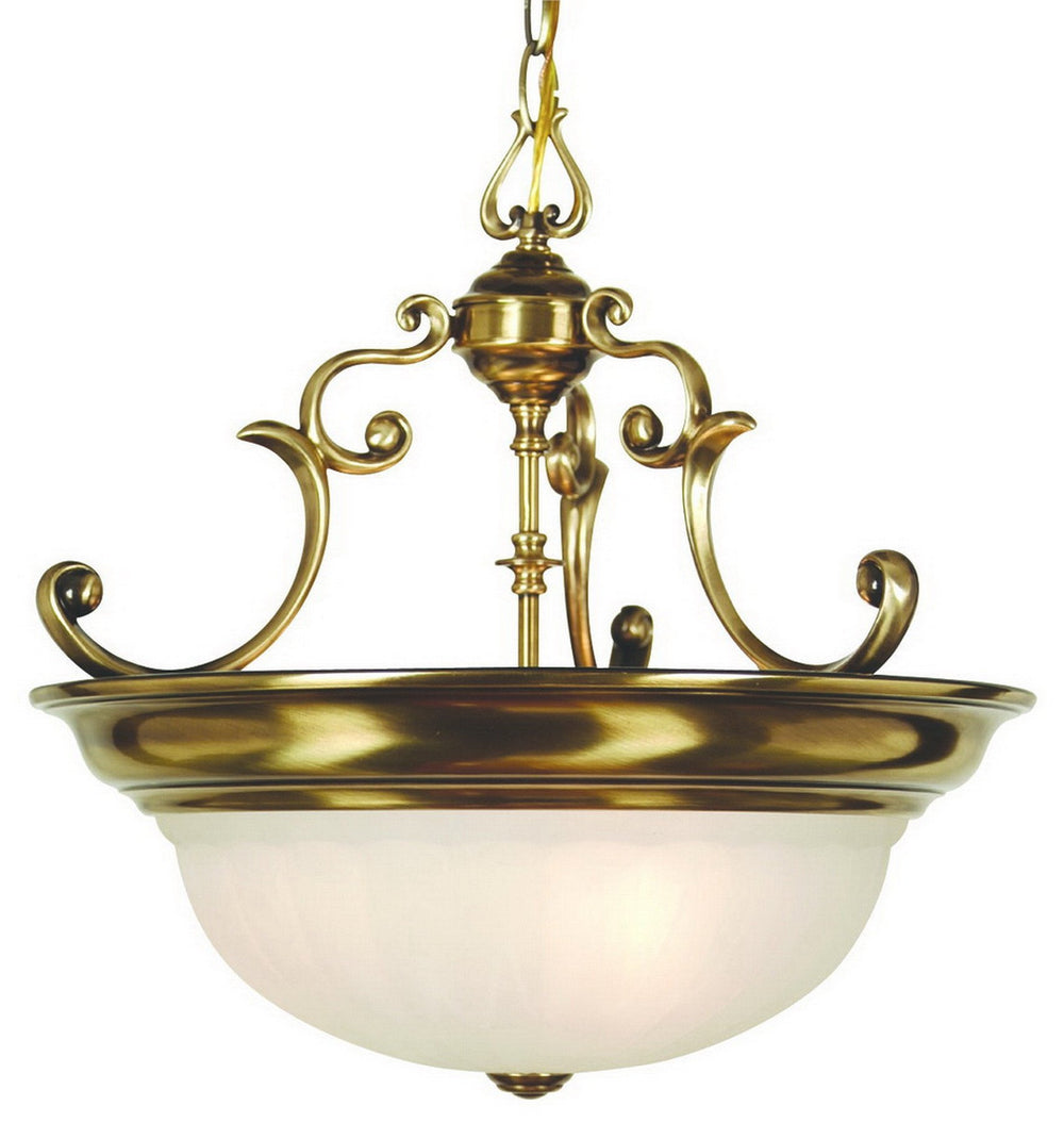 527-18 Dolan Designs Richland 3 Light Pendant Old Brass