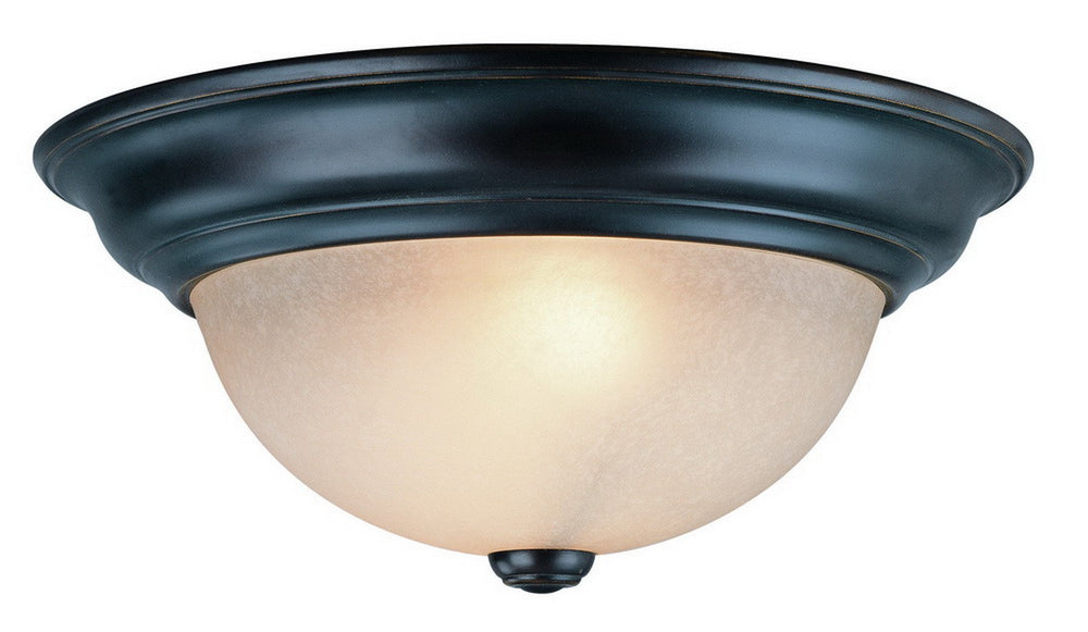 5372-78 Dolan Designs Fireside 2 Light Flushmount Bolivian