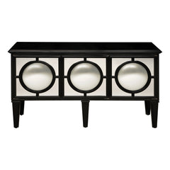 Sterling Mirage Convex Mirrored Sideboard In Ebony Model: 6042473
