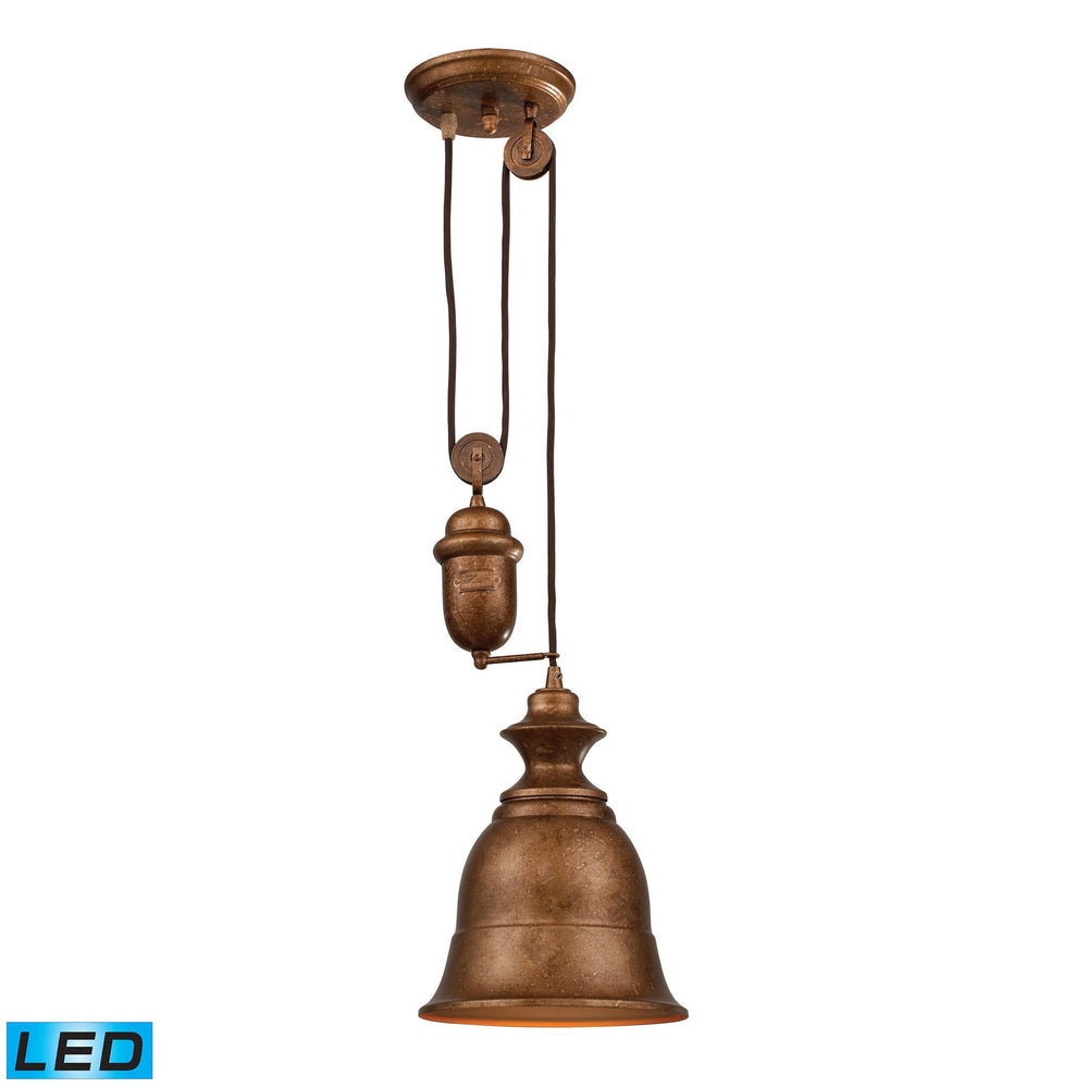 65060-1-LED Elk Farmhouse Bellwether Copper Pendant - LED