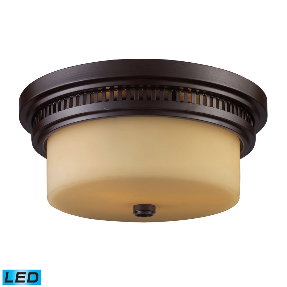 Elk Chadwick 2 Light Flush Mount In Oiled Bronze Model: 66131-2-LED
