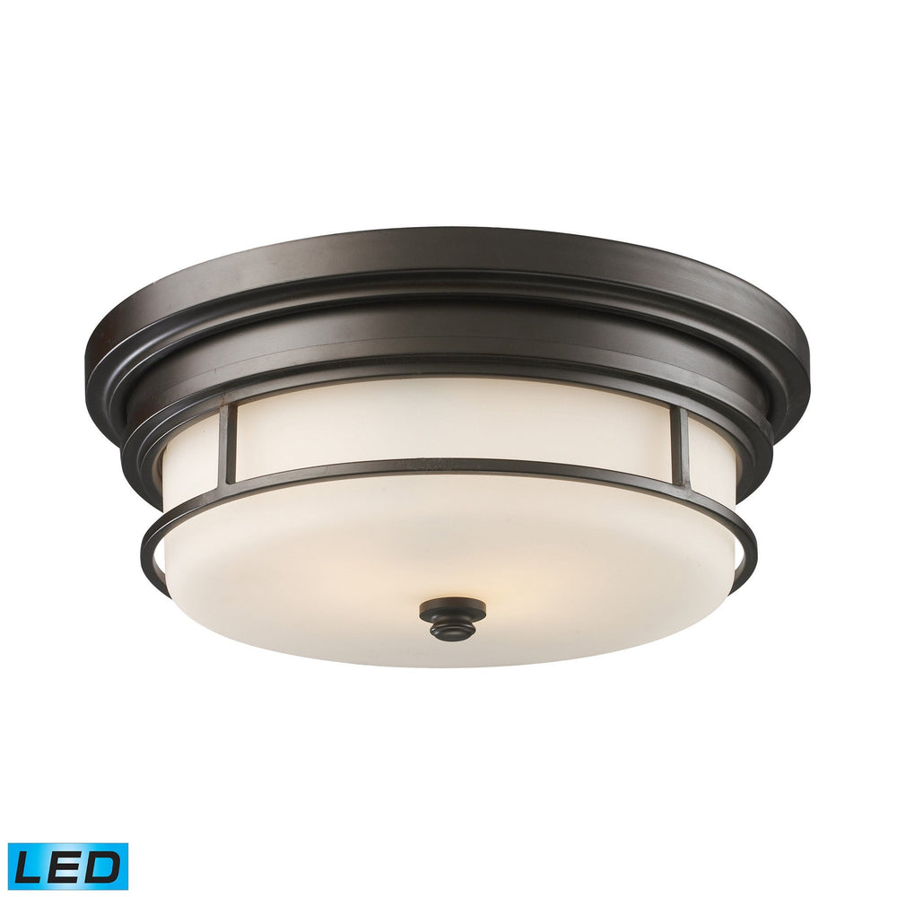 66254-2-LED Elk Newfield 2-Light Flush Mount In OiLED
