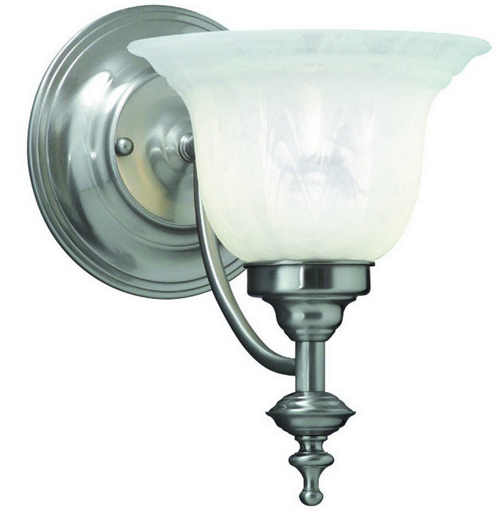 667-09 Dolan Designs Richland 1 Arm Wall Sconce Satin Nickel