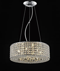"762 Lighting Originals Jewel Collection 16"" Drum Pendant Light with Embedded Crystals & Crystal Balls"