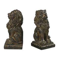 87-80143 Sterling Lion Book Ends
