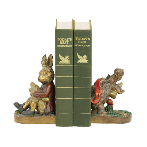 91-19278 Sterling Sterling Pair Of Tortoise And Hare Bookends