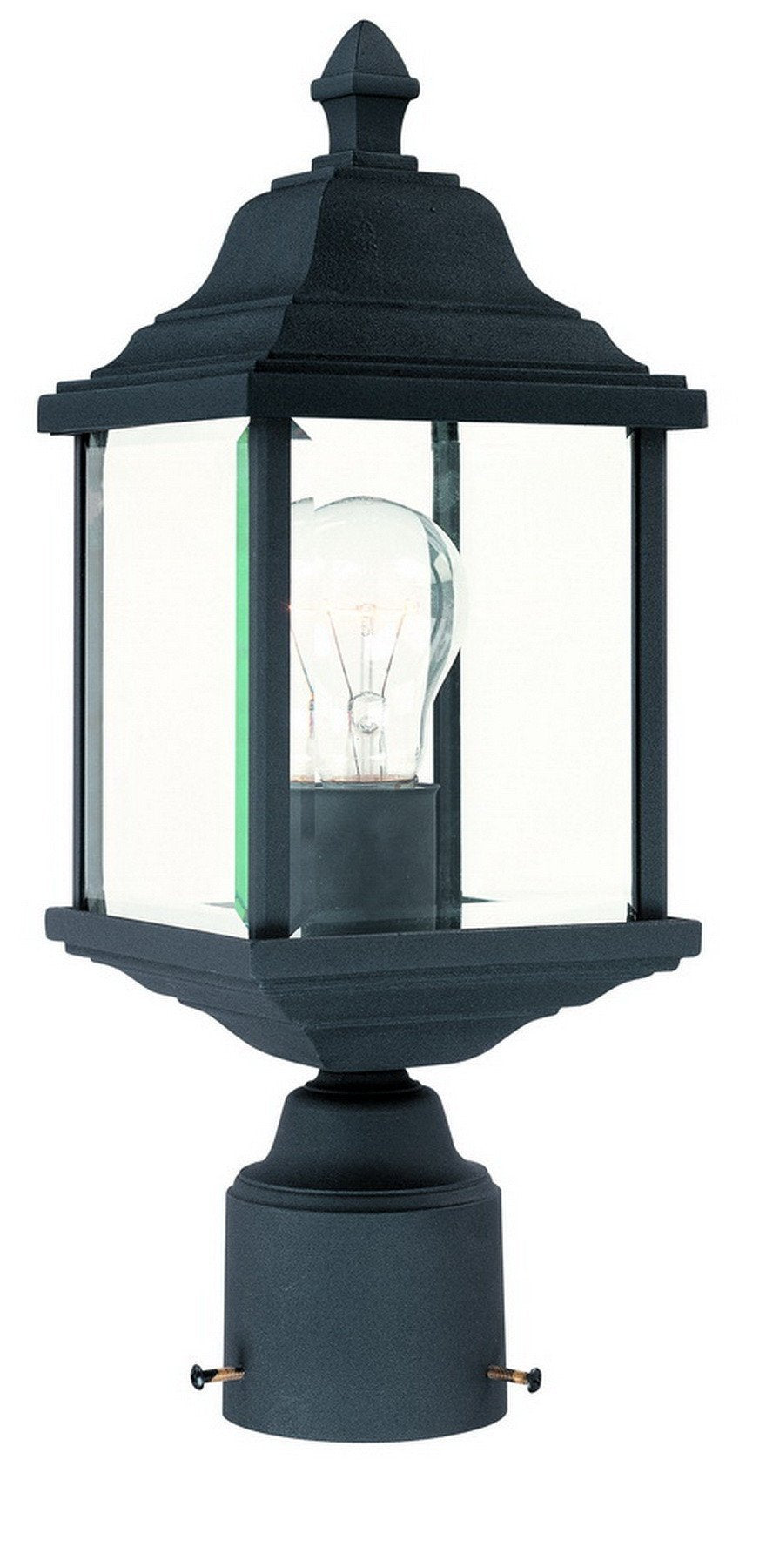 932-50 Dolan Designs Charleston 1 Light Post Black