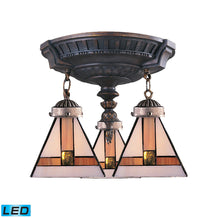 997-AW-01-LED Elk Mix-N-Match 3-Light Semi Flush In Aged Walnut - LED