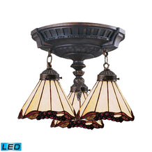 997-AW-03-LED Elk Mix-N-Match 3-Light Semi Flush In Aged Walnut - LED