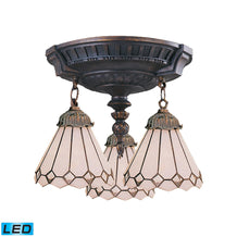 997-AW-04-LED Elk Mix-N-Match 3-Light Semi Flush In Aged Walnut - LED