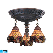 997-AW-07-LED Elk Mix-N-Match 3-Light Semi Flush In Aged Walnut - LED
