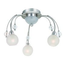 Buy 3-Light Satin Chrome Contemporary Ceiling Fixture From Lighting Originals