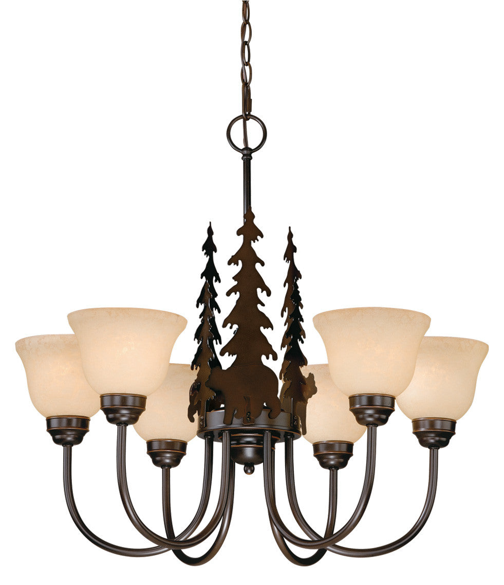 Buy CH55756BBZ Vaxcel Bozeman 6L Chandelier Burnished Bronze from LightingOriginals.ca