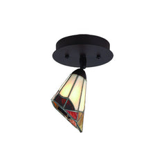 Buy Halifax Collection Single Light Tiffany Glass Ceiling Track Fixture From Lighting Originals