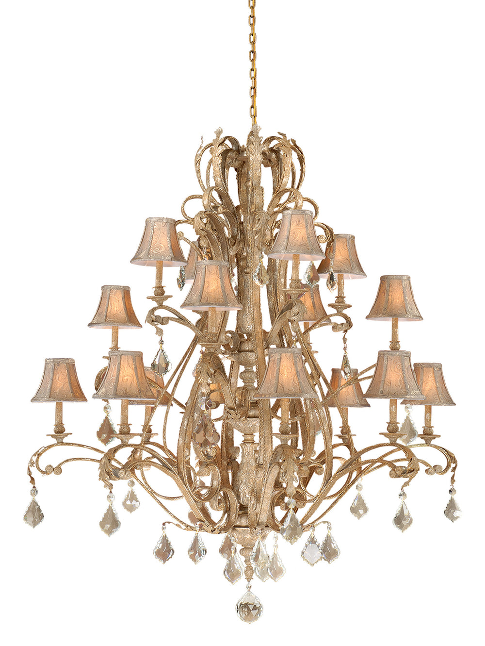 Buy EP-CHS016PP Vaxcel Empire 16L Chandelier Phoenician Platinum from LightingOriginals.ca