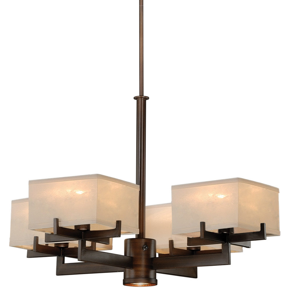 Buy H0043 Vaxcel Canvas 5L Chandelier Venetian Bronze from LightingOriginals.ca