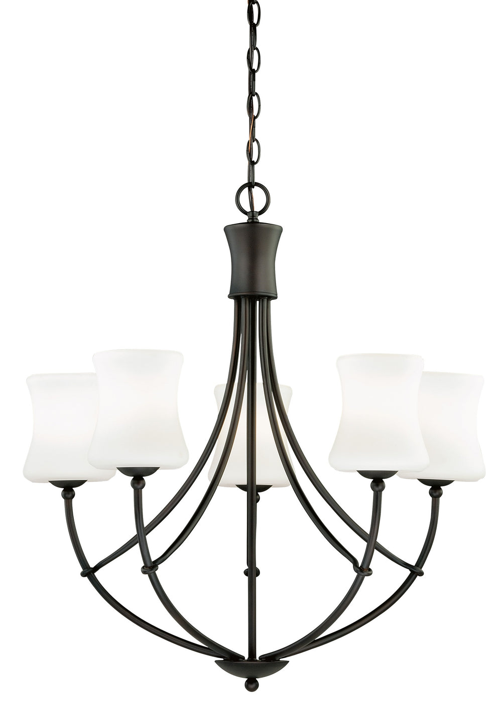 Buy H0105 Vaxcel Poirot 5L Chandelier New Bronze from LightingOriginals.ca