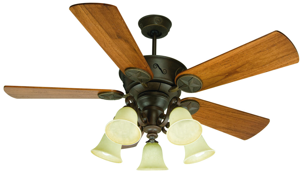 Craftmade K10409 Chaparral Ceiling Fan Kit in Aged Bronze Textured with 54