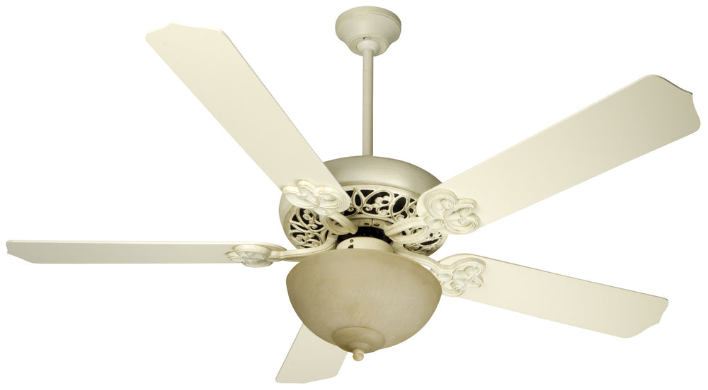 Craftmade K10618 Cecilia Unipack Ceiling Fan Kit in Antique White Distressed with 52