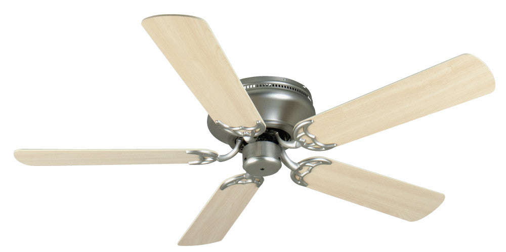 Craftmade K11002 Pro Contemporary Flushmount Ceiling Fan Kit in Brushed Satin Nickel with 52
