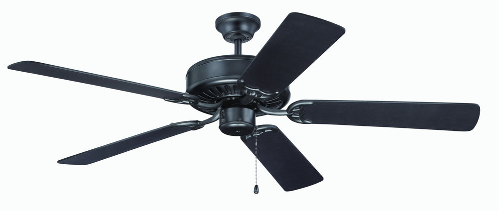 Craftmade K11136 Pro Builder Ceiling Fan Kit in Flat Black with 52