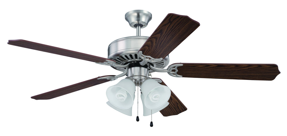 Craftmade K11202 Pro Builder 203 Ceiling Fan Kit in Brushed Polished Nickel with 52