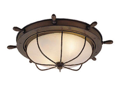 Vaxcel Orleans Nautical 15 Inch Outdoor Ceiling Light Model: OF25515RC