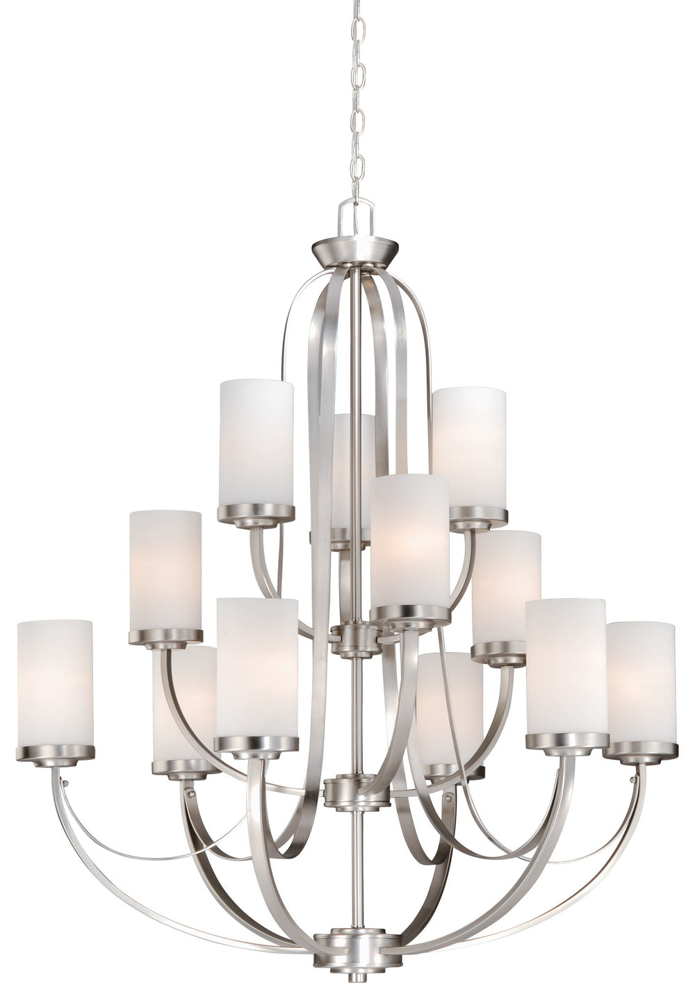 Buy OX-CHU012BN Vaxcel Oxford 12L Chandelier Brushed Nickel from LightingOriginals.ca