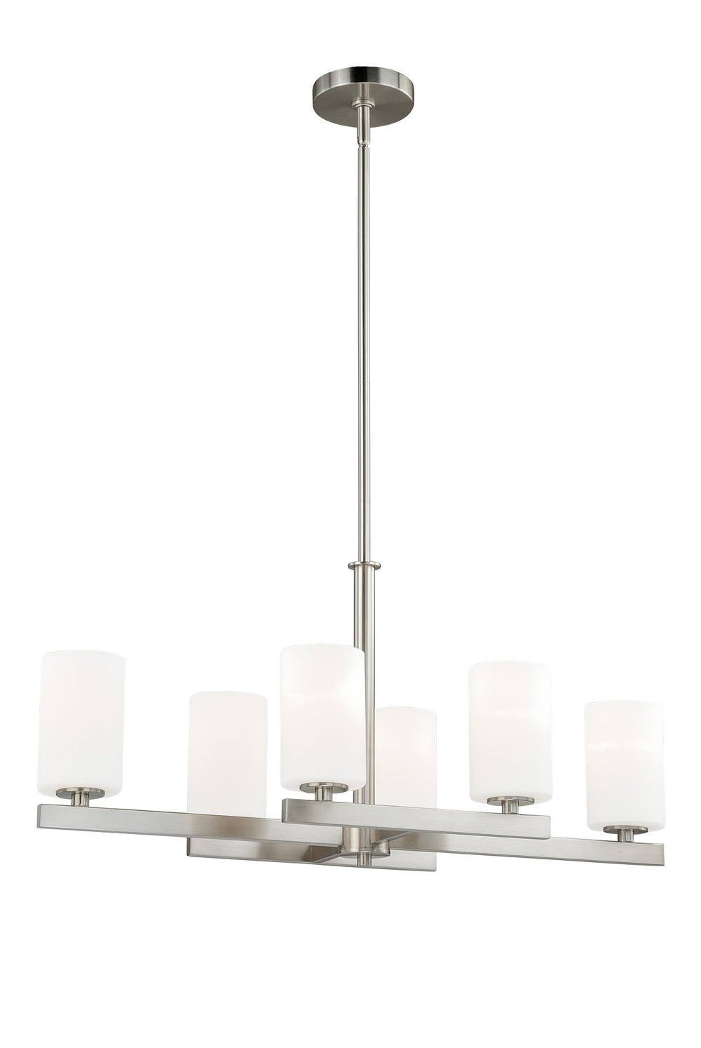 Buy P0127 Vaxcel Glendale 6L Chandelier Satin Nickel from LightingOriginals.ca